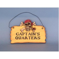 "8"" Wooden Pirate Sign ""The Captain's Quarters"""